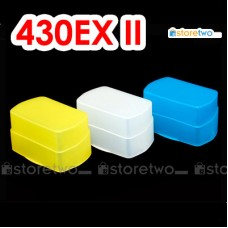 White Blue Yellow JJC Canon Speedlite 430EX II Flash Bounce Diffuser