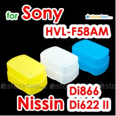 Blue Yellow White JJC Sony Nissin HVL-F58AM Di866 II Flash Diffuser
