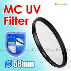 58mm MC UV Multi Coated Ultraviolet Filter Ultraviolet Protector MCUV