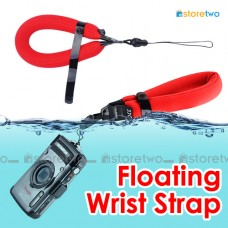 Red Adjustable Floating Wrist Arm Strap for Waterproof DC Camera