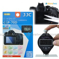 JJC Canon EOS 80D 70D 9H Hard Tempered Glass LCD Screen Protector