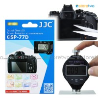 JJC Canon EOS 77D 9000D 9H Hard Tempered Glass LCD Screen Protector