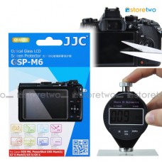 JJC Canon EOS M6 9H Hard Tempered Glass LCD Screen Protector Guard