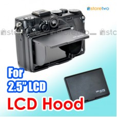"JJC Camera LCD Monitor Hood for 2.5"" Screen Universal 3-Sided Canopy"