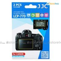 JJC Canon EOS 77D 9000D Top & Back LCD Screen Protector Guard Adhesive
