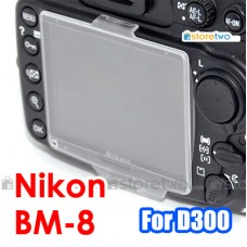 BM-8 - JJC Nikon D300S D300 LCD Screen Monitor Clear Cover Protector