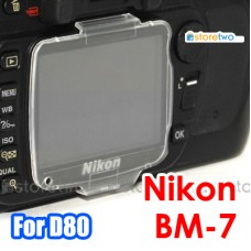 BM-7 - JJC Nikon D80 LCD Screen Monitor Clear Cover Hard Protector