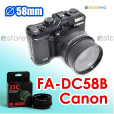 FA-DC58B - JJC Canon G12 G11 G10 58mm Filter Adapter Auto Adjust Zoom
