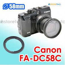 FA-DC58C - JJC Canon PowerShot G1 X 58mm Filter Adapter Mount Ring G1X