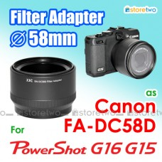 FA-DC58D - JJC Canon G16 G15 58mm Filter Adapter Mount Auto Adjust