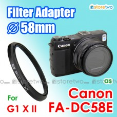FA-DC58E - JJC Canon PowerShot G1 X II 58mm Filter Adapter Mount Ring