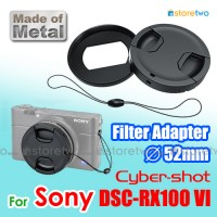 Metal Filter Lens Adapter & Lens Cap 52mm Sony Cyber-shot DSC-RX100 VI