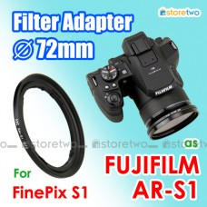 AR-S1 - JJC FUJIFILM FinePix S1 72mm CPL UV Filter Adapter Ring RN-S1