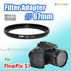 Kiwifotos FUJIFILM FinePix S1 67mm CPL UV Filter Adapter Ring LA-67S1