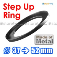 Metal Step Up 37mm to 52mm Filter Ring Adapter Mount 37-52mm