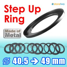 Metal Step Up 40.5mm to 49mm Filter Ring Adapter Mount 40.5-49mm