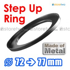 Metal Step Up 72mm to 77mm Filter Ring Adapter Mount 72-77mm