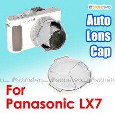 Silver JJC Panasonic LX7 Self-Retaining Auto Open Close Sync Lens Cap