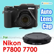 JJC Nikon Coolpix P7800 P7700 Self-Retaining Auto Open Close Lens Cap
