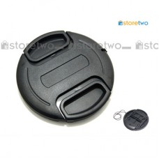 37mm Center Pinch Snap Front Lens Cover Cap with Keeper Leash