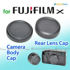 BCP-001 RLCP-001 - JJC FUJIFILM X Camera Body Rear Lens Cap Cover Set