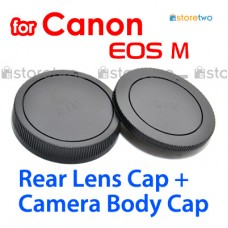 RF-4 EB - JJC Canon Camera Body + Rear Lens Cap Cover Set for EOS M