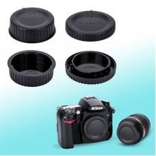 BF-1B LF-4 - JJC Nikon Camera Body + Rear Lens Cap Cover Set