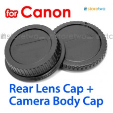 RF-3 E - JJC Canon Camera Body + Rear Lens Cap Cover Set for EF EF-S