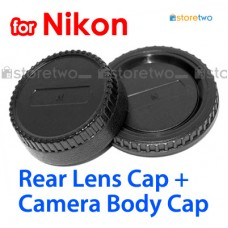 BF-1B LF-4 - JJC Nikon Camera Body + Rear Lens Cap Cover Set