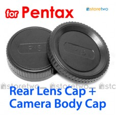 JJC Pentax Camera Body + Rear Lens Cap Cover Set