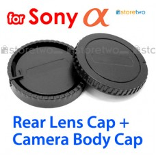 ALC-B55 ALC-R55 - JJC Sony Alpha Camera Body + Rear Lens Cap Cover Set