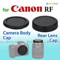 R-F-5 RF - JJC Canon Camera Body + Rear Lens Cap Cover Set RF Mount
