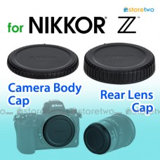 BF-N1 LF-N1- JJC Nikon Z Mount Camera Body + Rear Lens Cap Cover Set