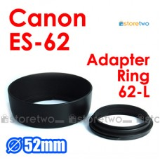 ES-62 L - JJC Canon Lens Hood EF 50mm f/1.8 II USM 52mm Adapter Ring L