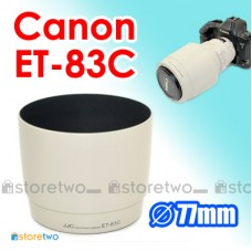 White ET-83C - JJC Canon Lens Hood for 100-400mm f/4.5-5.6L IS USM