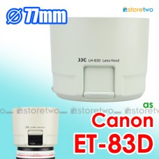 White ET-83D - JJC Canon Lens Hood for 100-400mm f/4.5-5.6L IS II USM