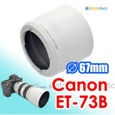 White ET-73B- JJC Canon Lens Hood Shade for EF 70-300mm f4-5.6L IS USM