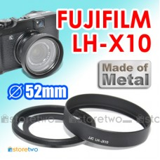 LH-X10 JJC FUJIFILM Metal Lens Hood X20 X10 52mm Adapter Vented Tilted