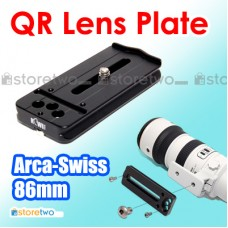 Metal 86mm Quick Release Lens Plate Arca Swiss 100mm 80-200mm 70-200mm