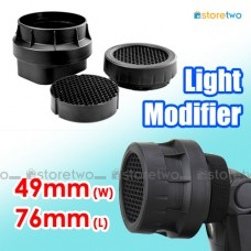 3-in-1 Stacking Honeycomb Grid Light Modifier Cap JJC 49mm W x 76mm L