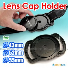 Camera Buckle Lens Cap Holder Keeper Strap Capbuckle 43mm 52mm 55mm