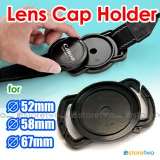 Camera Buckle Lens Cap Holder Keeper Strap Capbuckle 52mm 58mm 67mm