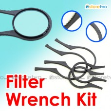 Lens Filters Wrench Kit 2 Pairs Large Small 49mm to 58mm 67mm to 77mm