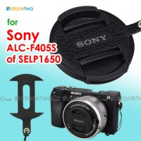 Sony ALC-F405S 16-50mm SELP1650 Nappa Leather Lens Cap Keeper Strap