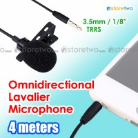 JJC Omnidirectional Lavalier Microphone 360-degree 4 Meters 3.5mm Jack