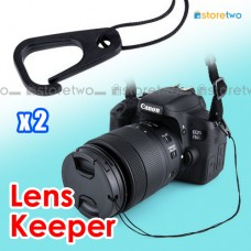 "2x Lens Cap Keeper String with Hook 9""/22cm Kiwifotos KLC-CH"
