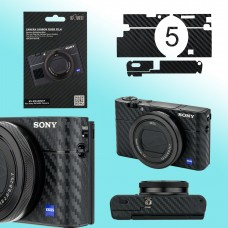 Carbon Fiber Skin Decoration Sticker for Sony RX100V VA RX100M5 Camera