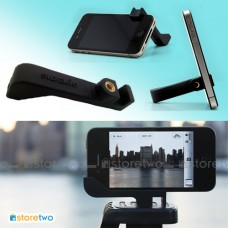 iPhone 4S 4 Black 2-in-1 Rubber Stand Camera Tripod Mount Holder Glif