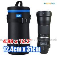 """DLP-7II Deluxe Lens Pouch Water Resistant Double Zip 4.8x12.2"""" 12x31cm"""