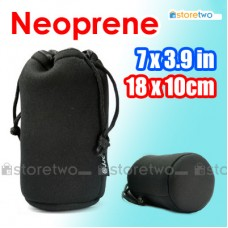 "Neoprene Lens Pouch Bag Durable Case 7x3.9"" 18x10cm 70-210mm Zoom (L)"